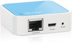 WiFi Router/AP TL-WR702N se napájí pomocí klasického micro USB konektoru