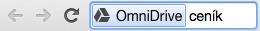 V adresním řádku napište drive a část jména hledaného dokumentu.