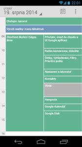 Zobrazení kalendáře na telefonu s Androidem