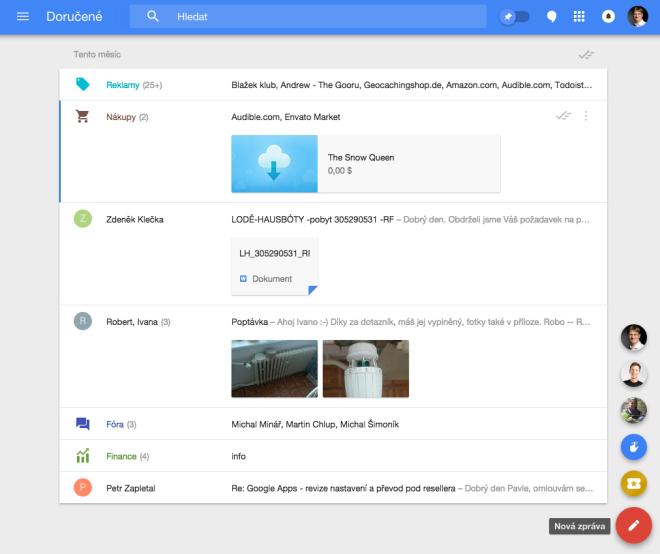 Google Inbox - nová služba od Google, která se pokouší zkrotit vaše maily