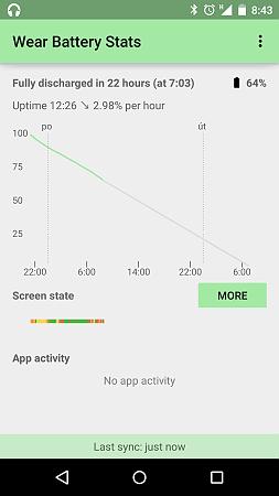 Wear Battery Stats - odhad výdrže hodinek na baterie