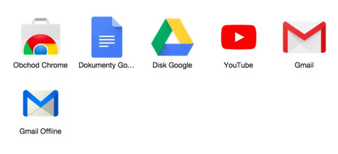 Gmail Offline spustíte pomocí modré poštovní obálky