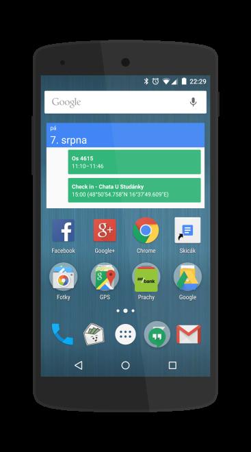 Ukázka screenshotu vloženého do makety telefonu Nexus 5